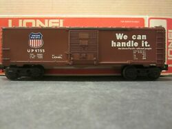 Lionel Union Pacific 9755 Boxcar Box Car We Can Handle Red Logo Billboard
