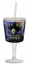 Wizard Of Oz I'm A Witch Goblet, Purple