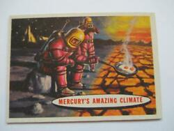1957 Topps Space Cards #77 Mercury's Amazing Climate Trading Card Excellent+
