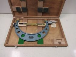 Fowler 52-222-012 Outside Micrometer 11 - 12 .0001 Digit Counter W/ Standard