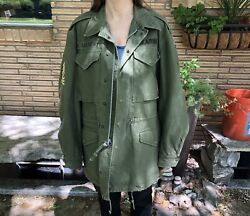 Vtg 1960s Vietnam Era Us Army Long Small Field Jacket Coat And M-1951 Liner In Euc