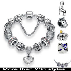 Authentic 925 sterling silver Charms Fit Bracelet European Beads Fashion Jewelry