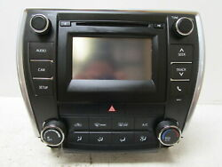 2016-2017 Toyota Camry Radio Receiver Climate Control W/ Display 100614 OEM