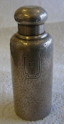 A Fine And Co Hammered Work Perfume Sterling Silver Hand Hallmarked Bottle