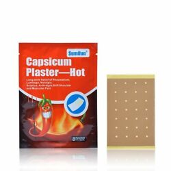 Capsicum Plaster Hot Pain Relieving Patch Muscle Back Joint Ache Relief 24Pc For