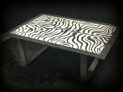 Marble Table, Black And White, Water Jet Coffee 41 X 30 X 3/4  2500.00