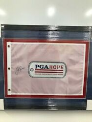 Autographed Jack Nicklaus Golf Pin Flag