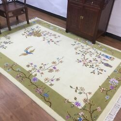 Yilong 6and039x9and039 Home Decor Hand Knotted Chinese Wool Rug Art Craft Woollen Carpets