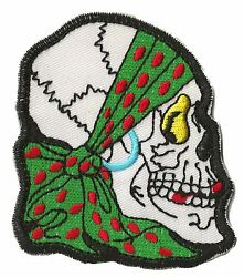 Patch Embroidered Badge Patch Pirate Skull Transfer Decoration Head Death