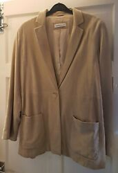 Charity Auction Soft Suede Artigiano Jacket Size 16-cure Myotonic Dystrophy