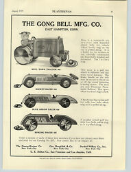 1929 Paper Ad Gong Bell Pull Toys Farm Tractor Rocket Racer Car Blue Arrow Ring