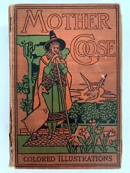 Antiquarian Mother Goose Nursery Rhymes Fairy Tales Book Colored Illus. D Mckay