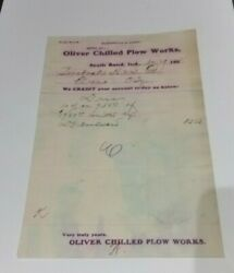 1902 South Bend Indiana Billhead Oliver Chilled Plow Works