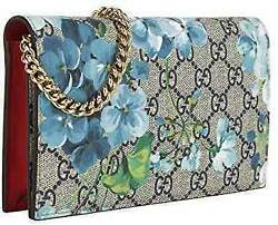 Gucci Womens Blooms Crossbody Wallet Chain Shoulder Bag Designer Handbags