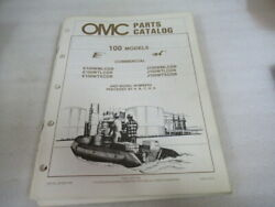 Pm25 1987 Omc 100 Final Edition Commercial Parts Catalog Manual P/n 397328