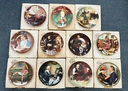 Lot Of 11 Knowles Norman Rockwell Fine China Collector's Plates W/ Coa's
