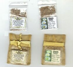 50th Gold Wedding Anniversary Favors 25 Gold Bags Shasta Daisy Seeds Poem $7.99
