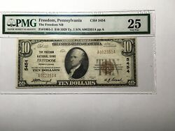 National Bank Note Freedom Pa Pmg 25 Vf