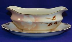 Syracuse China Old Ivory Madame Butterfly Dinnerware Gravy / Sauce Boat Usa