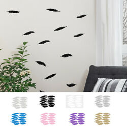 Feather Shape Wall Stickers Self stick Art Decal for Living Room Bedroom