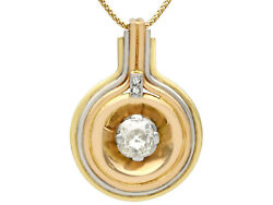 Antique & Vintage Art Deco 1.72 ct Diamond 18Carat Tri-Gold Pendant
