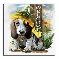 Dog Diamond Painting Round Square 5D Full Cross Stitch Flower Embroidery Scenery