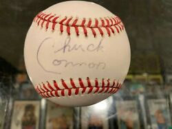 Chuck Conners And039and039the Riflemanand039and039 Actor Single Signed Baseball Jsa Authenticated