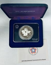 1973 Bicentennial American Revolution Adams And Henry Sterling Silver Medal Proof