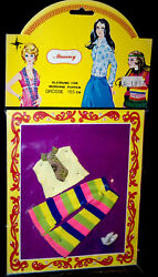 Mammy Vintage 70er Doll Clothing Topper Dawn Doll Outfit 15cm Doll's House