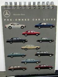 1980-1990 Mercedes Benz Dealer Pre-owned Used Car Guide Data And Prices Specs