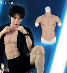 2500g Hunk Chest Muscle Man Silicone Fake Muscle V-line Abs Six Pack Bodysuit