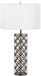 Cyan Design Corsica Table Lamp 1-light Large Gold Leaf Clear Satin Brass