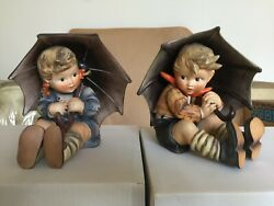 Mint Hummel /goebel 8 Umbrella Boy/girl 152a-152b With Original Boxes