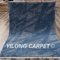 Yilong 5and039x7and039 Abstract Handmade Wool Area Rug Woolen Hand Knotted Carpet C65s