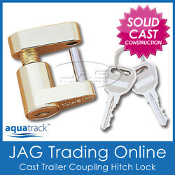 Compact Trailer Coupling Hitch Laser Lock And Keys - Caravan/4x4/boat Anti-theft