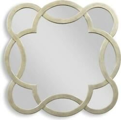WALL MIRROR WOODBRIDGE CELESTE LUNA QUATREFOIL INTERLACED WAVY SOLID WOOD