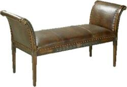 New Bench Bench Reproduction Reproduction Wood Leather Wood Leather Hand-