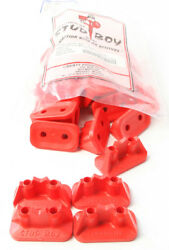 Stud Boy Super-lite Pro Series Double Backers .75 24/pk Red 2512-p1-red