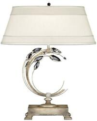 Crystal Laurel Table Lamp Right-side Facing 1-light Antique Taupe