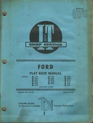 Iandt Ford Series 1000 2000 2600 3000 3600 4000 No. Fo-33 Tractor Flat Rate Manual