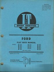 Iandt Ford Series 1000 2000 2600 3000 3600 No. Fo-33 Tractor Flat Rate Manual B
