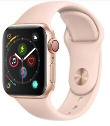 Apple Watch Series 4 40mm Gold Case Pink Sand Sport Band Gps + Cellular Used