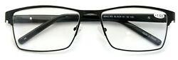 Men Reading Glasses Metal with Plastic Temple Extra Large Reader 152mm Wide $22.95