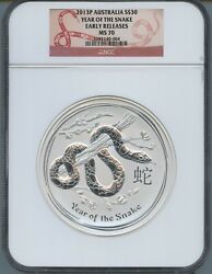 2013p Australia S30 Year Of The Snake Early Releases Ngc Ms70