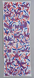 Stunning Antique Mexican Otomi Tapestry Textile Embroidery