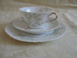 Antique Haviland Limoge China Dessert Plate Demitasse Cup Andsaucer-the Cherbourg