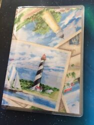 Lighthouse Passport Cover Fabric + Vinyl Custom Travel Accessory Gift For Her $7.00