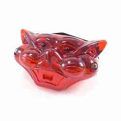 Lucas Style Cat Face Faced Tail Light Lamp Chopper Bobber Cafe Racer Taillight
