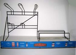 Antique EVEREADY ® Battery Store Display Steel Storage Rack Made In USA $87.96