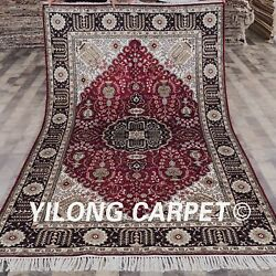 Yilong 5'x8' Handmade Classic Silk Area Rugs Flooring Hand Knotted Carpets Y357c